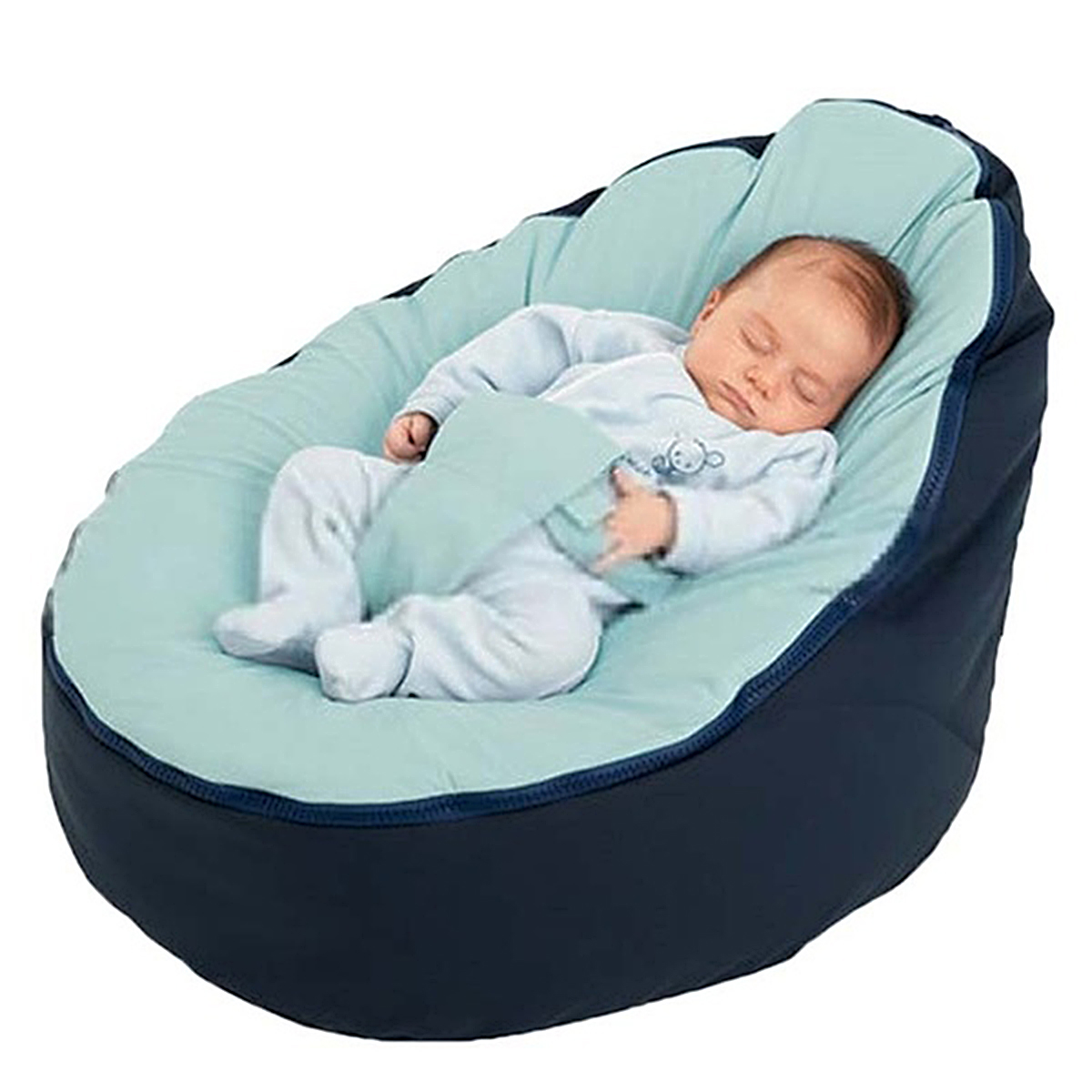 Canvas Blue Vine Baby Infant Bean Bag Snuggle Bed c Without Filling Lazy Sofa
