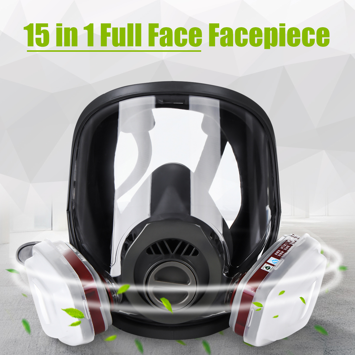 15 in 1 Full Face Gas Mask Facepiece Respirator Painting Spraying Mask 6800 Dust 13
