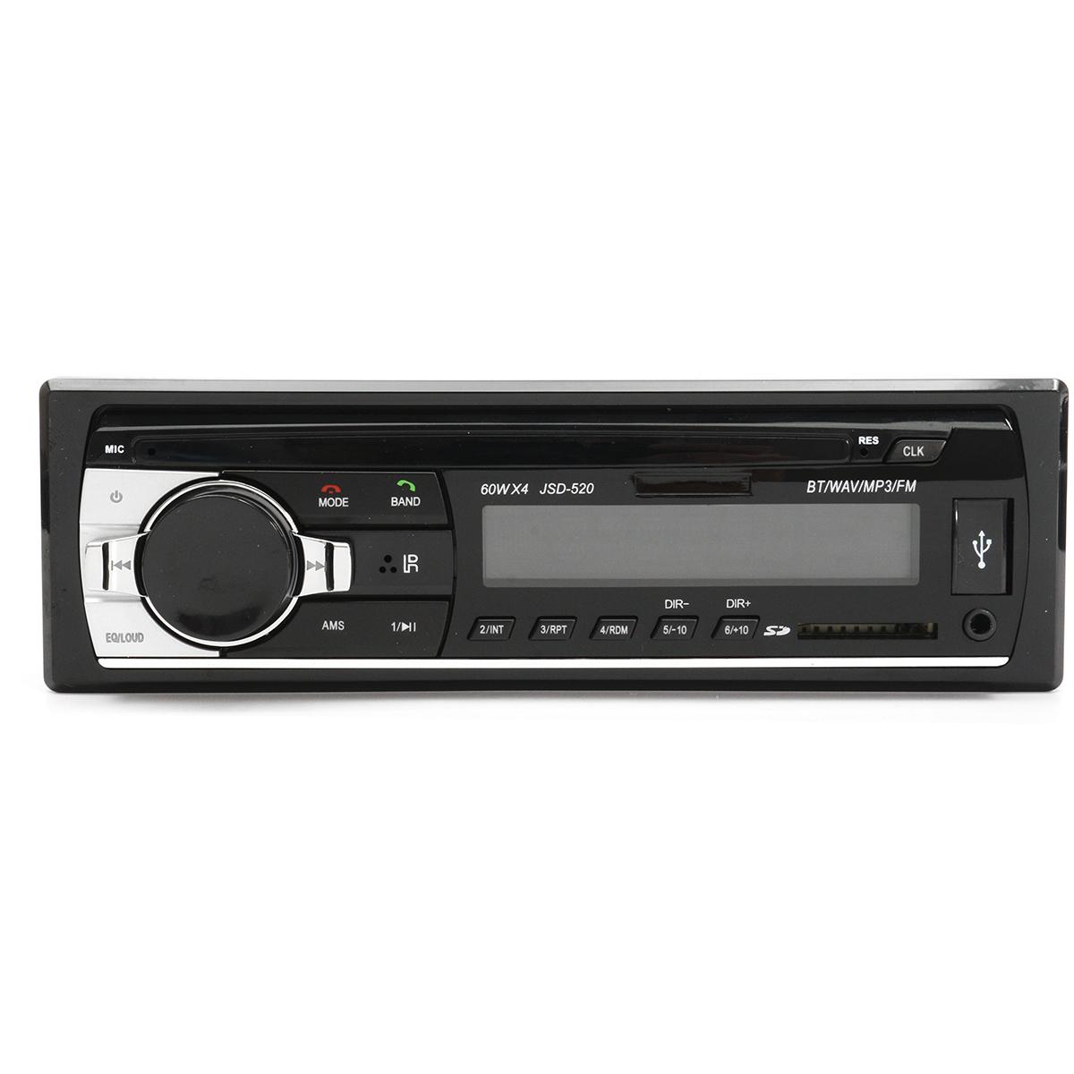 JSD-52024ВАвтоСтереоРадио MP3-плеер Авто Аудио Bluetooth громкой связи AUX SD USB FM