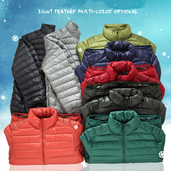 4999a496871 Big Size Mens Light Weight Duck Down Jacket Windproof Warm Casual Jacket  Coat