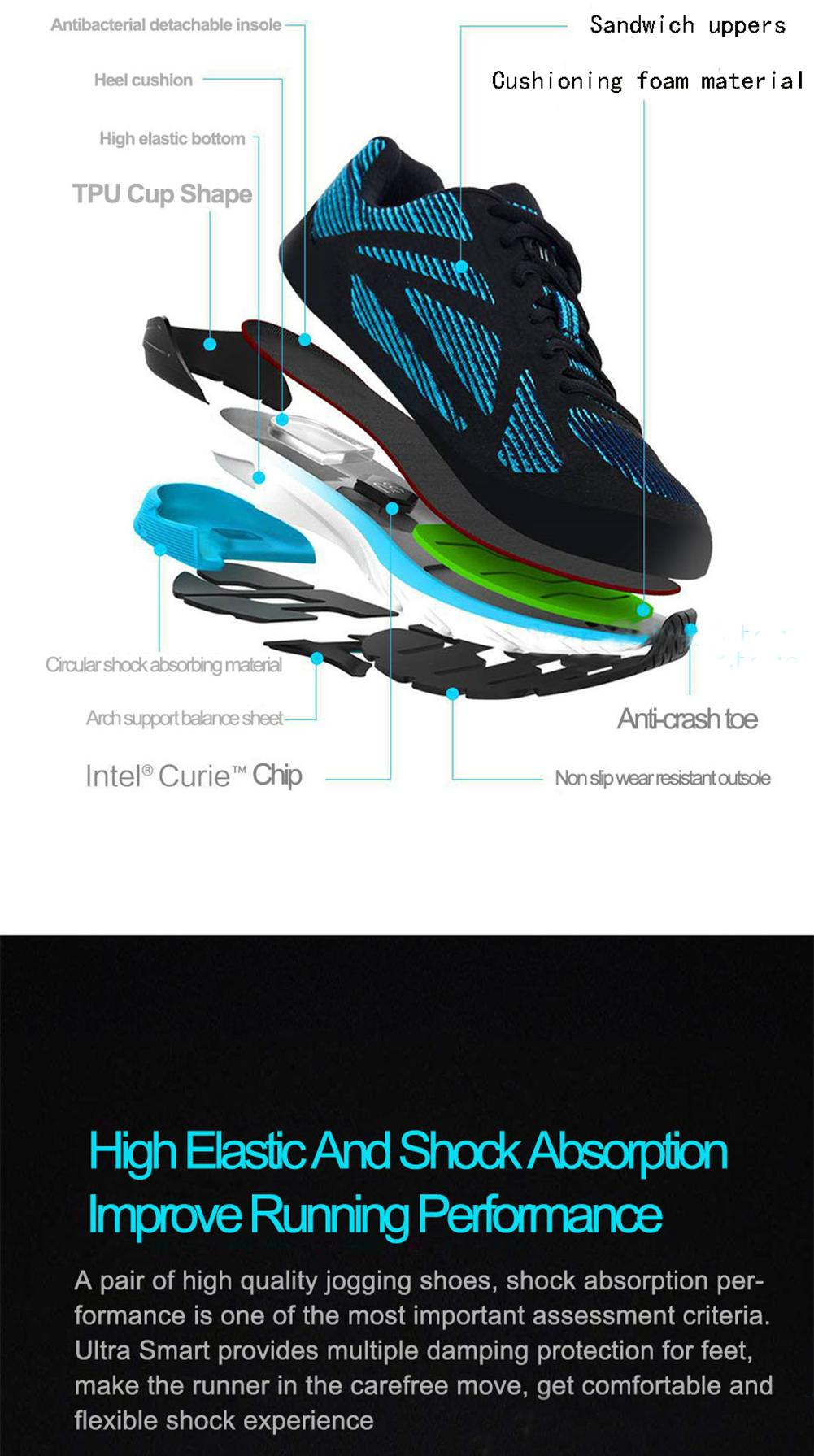 0c7a8748d90c XIAOMI 90 Men Sports Shoes Point Ultra Smart Intel Curie Chipset Breathe  Shock Absorption