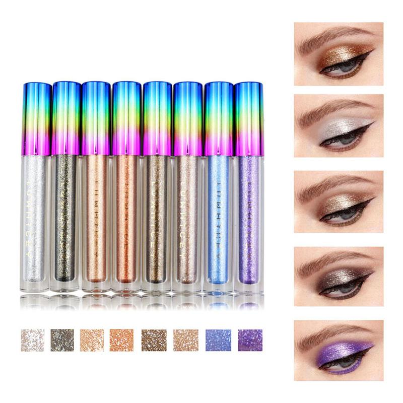 8 цветов Colorful Shimmer С блестками Liquid Eye Shadow
