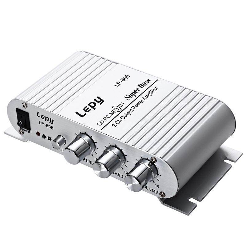 Lepy LP-808 усилитель для домашнего автомобильного телефона HiFi 12v мини портативный проводной