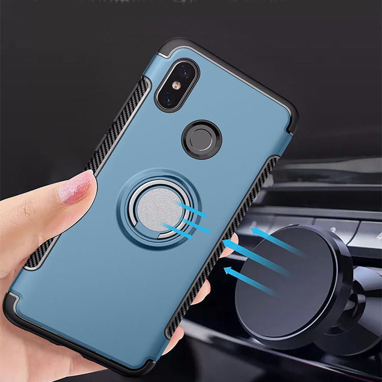 Bakeey Anti-slip Shock-proof 360° Adjustable Ring Holder Protective Case for Xiaomi Mi8 Mi 8