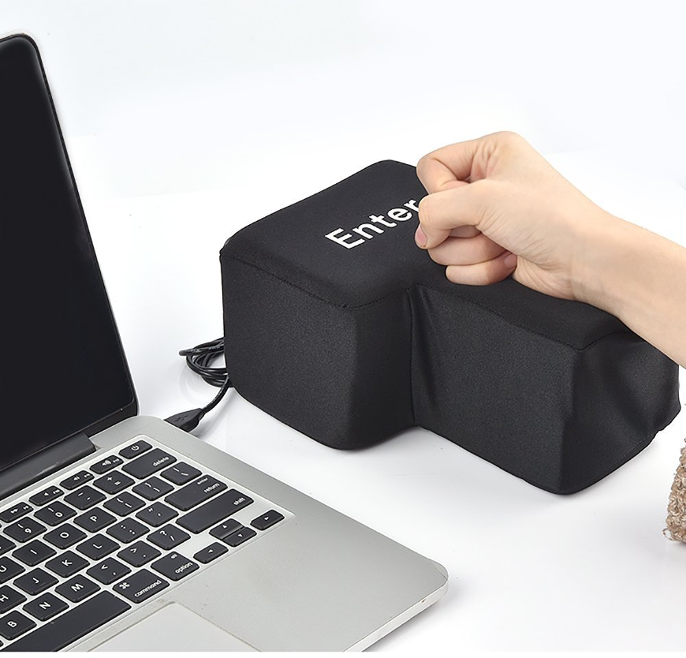 Slow Rebound Funny Big Enter Key Button USB Nap Pillow Stress Release Relief Введите ключ Unbreakable