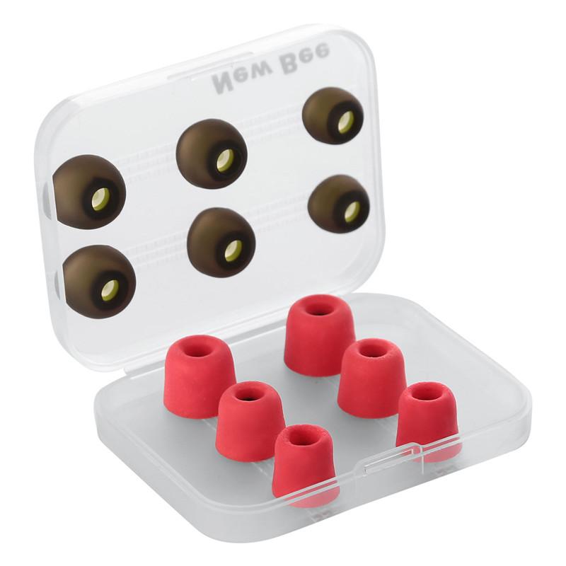 New Bee 3 Пары отскока пены памяти Советы 3 пары силиконовых вкладышей для наушников Headphone