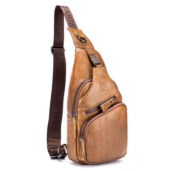 Bullcaptain Wallet Men Genuine Leather Retro Chest Bag