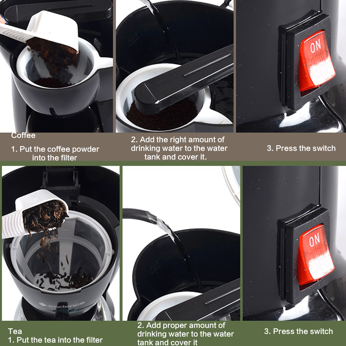 300W Mini Single Cup Drip Coffee Machine Makers Electric Automatic Espresso Machine 23