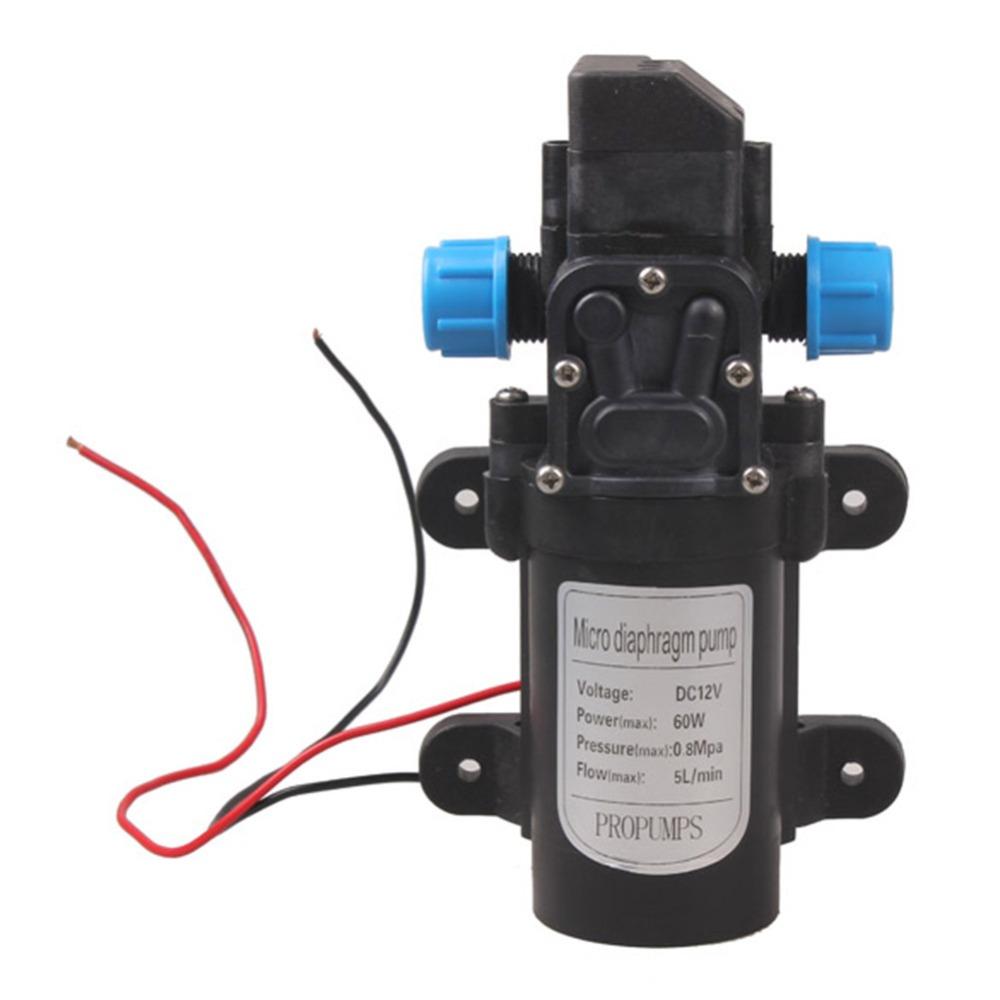 12В 60Вт Микродиафрагмальная вода Насос Автоматический переключатель 5 л / мин Диапазон 8 м Диафрагма