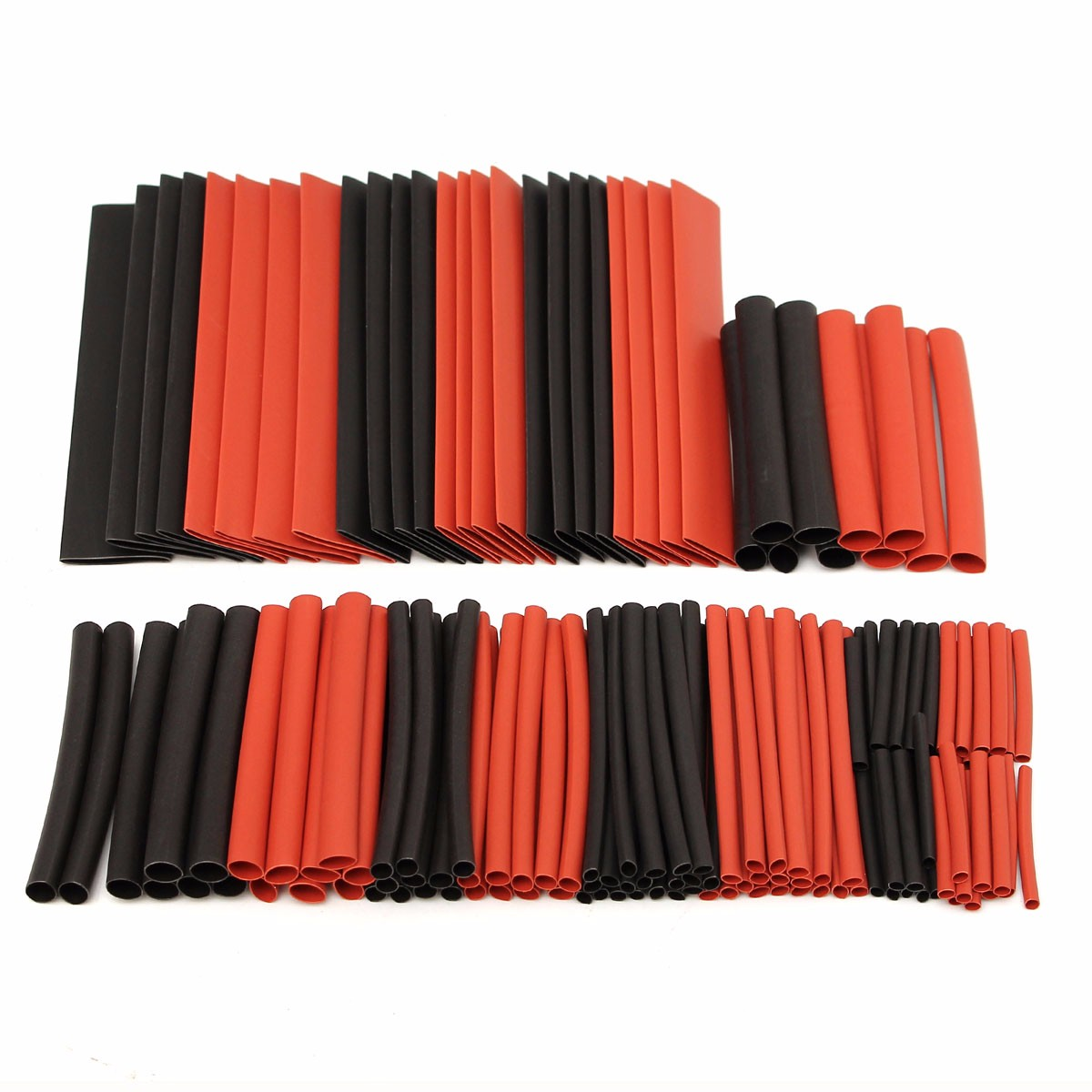 150pcs 2:1 Polyolefin Heat Shrink Tubing Tube Sleeving Wrap Wire Kit Cable 9UK