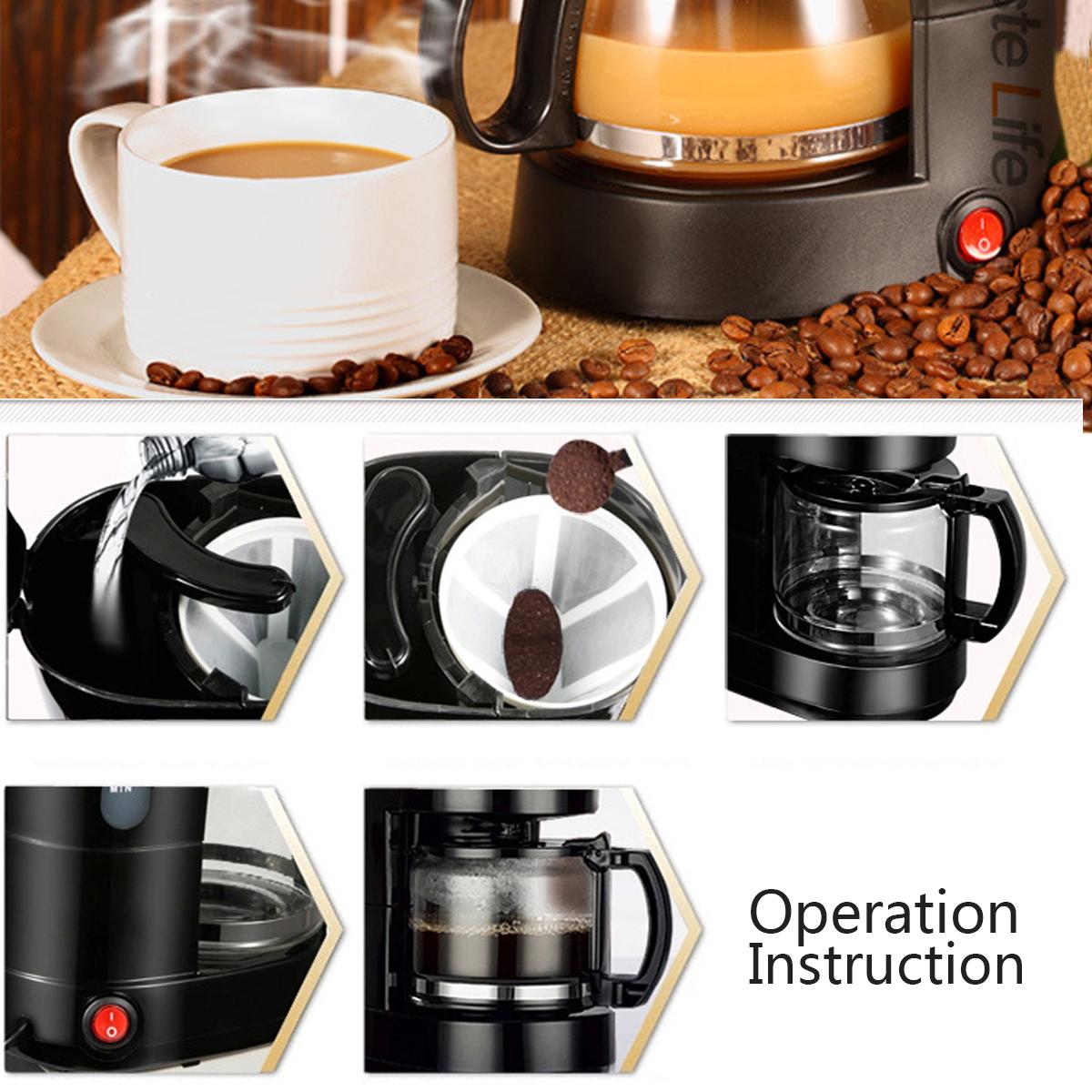 1.2L Electric Drip Coffee Tea Espresso Maker Automatic Filter Machine 10-12 Cups Coffee Machine 16