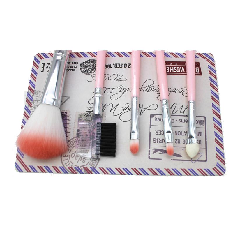 5 шт. Розовый Макияж Кисти Комплект порошка для лица для глаз Кисти