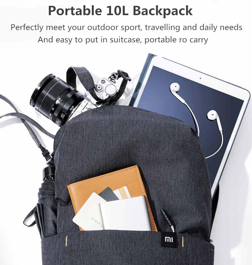 Original Xiaomi 10L Backpack Bag Women Men Sports Bag Level 4 Water Repellent Travel Camping Backbag 21