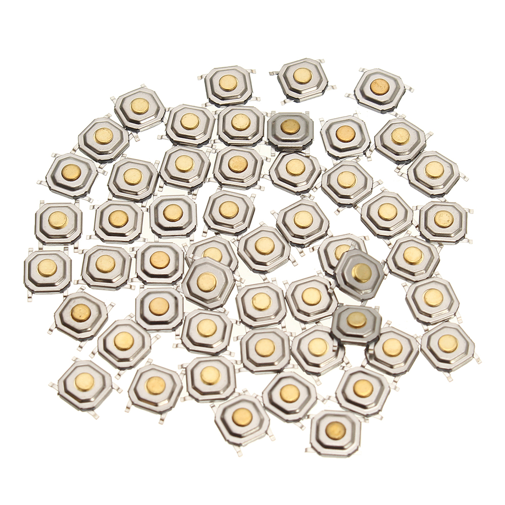 150Pcs DC12V 4 Pins Tact Tactile Push Button Switch Momentary SMD Switch 5x5x1.5MM