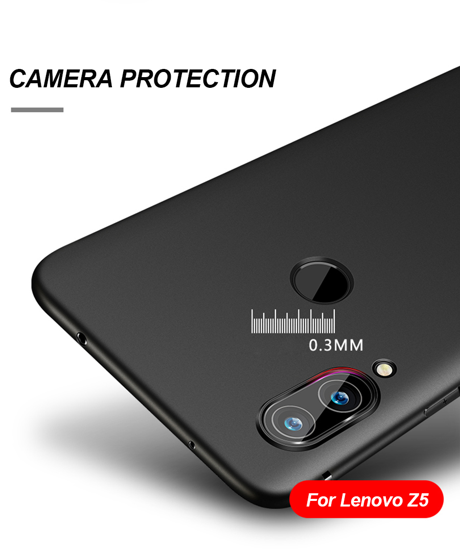 pretty nice 73081 4b3ec Bakeey Ultra-thin Soft TPU Mate Silky Back Cover Protective Case for Lenovo  Z5