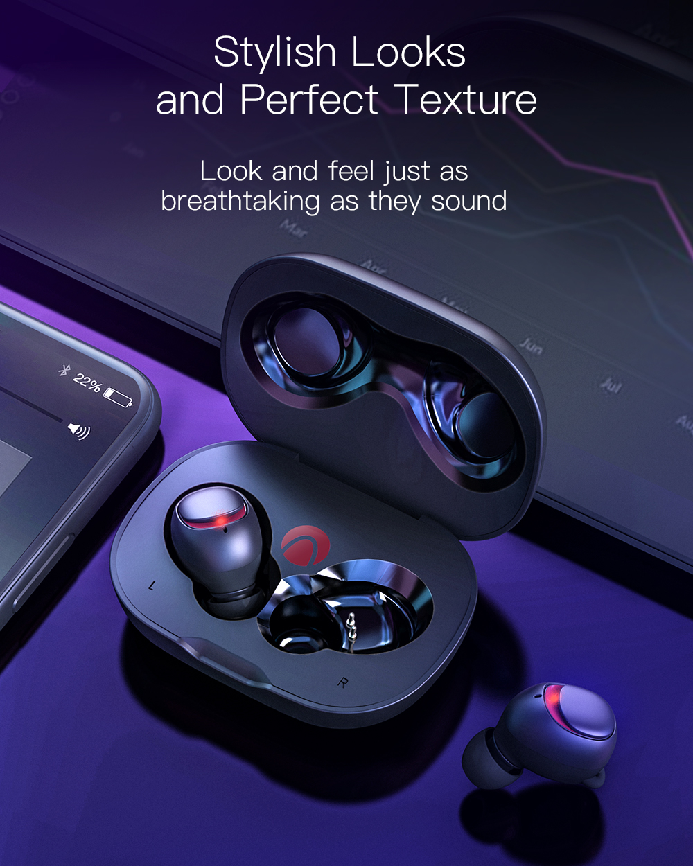 BlitzWolf® AIRAUX AA-UM1 Mini True Wireless bluetooth 5.0 Earphone Hi-Fi Stereo Headphone with Charging Case