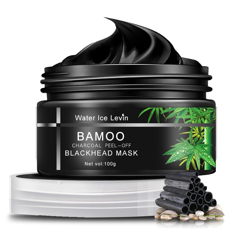 Water Ice Levin Bamboo Charcoal Угри Маска Удаление отслоения Очищение Гладкая поры Очищение