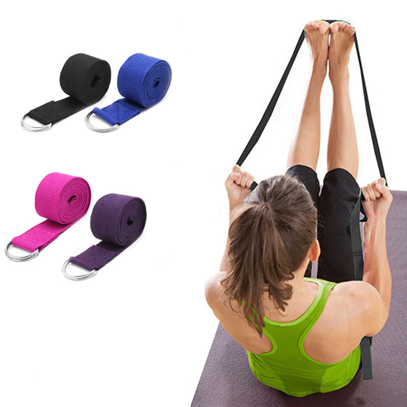 KALOAD 2,5 м Yoga Эластичный ремешок Фитнес Упражнение Yoga Ремешок Талия Сопротивление ног D-Ring Ремень
