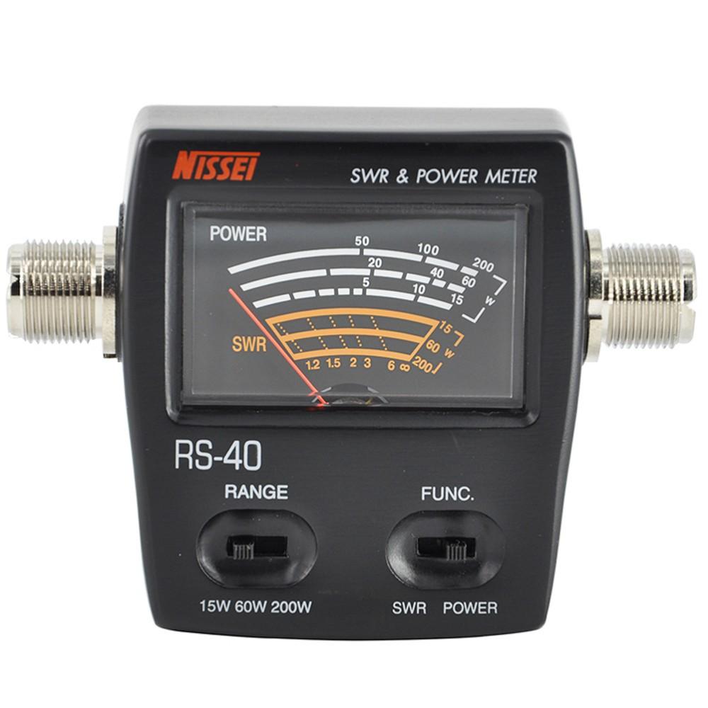 Nissei RS-40 мощности КСВ метр диапазон измерения 200w для двухстороннее радио с разъемом адаптера