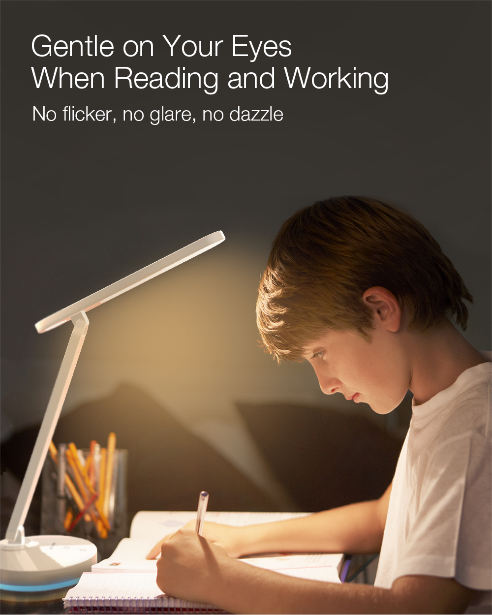 BlitzWolf Table Lamp is suitable for reading and study and gentle to eyes