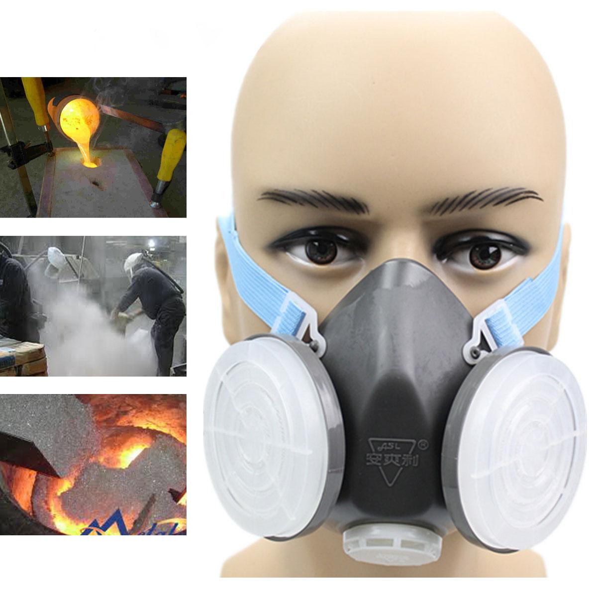 Анти Пылезащитный респиратор для газовой безопасности наполовину Маска Фильтр для химического распыления Инструмент