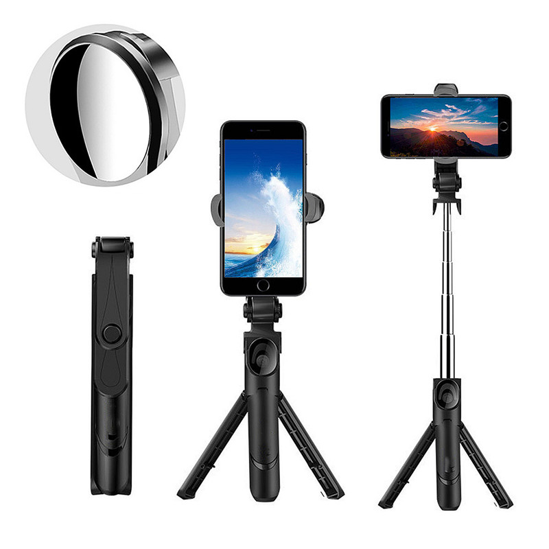 Bakeey XT09S Extendable Rotation bluetooth Remote Tripod Selfie Stick With Mirror for Live Sport Cell Phone