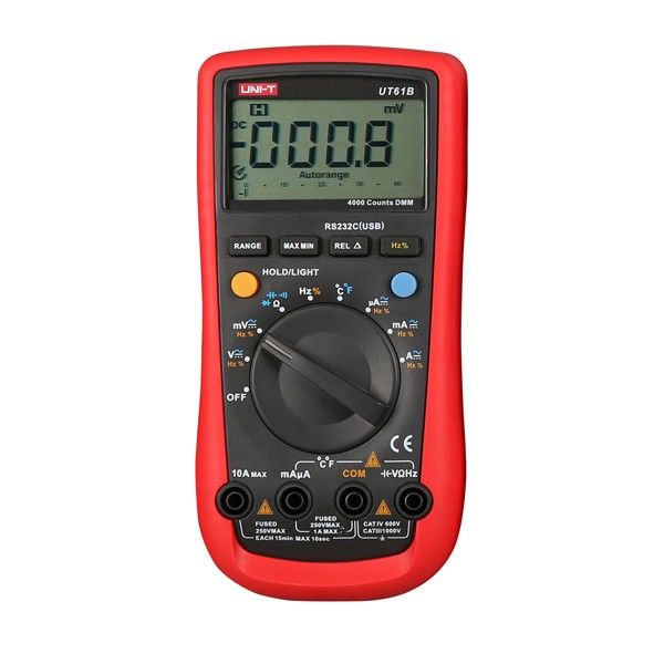 UNI-T UT61B Auto Manual Ranging Modern Digital Multimeter AC DC Meter