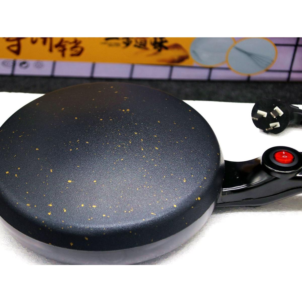 600WКухняЭлектрическаягриль-блинчикдлявыпечки Креп-чайник Торт-машина для пиццы