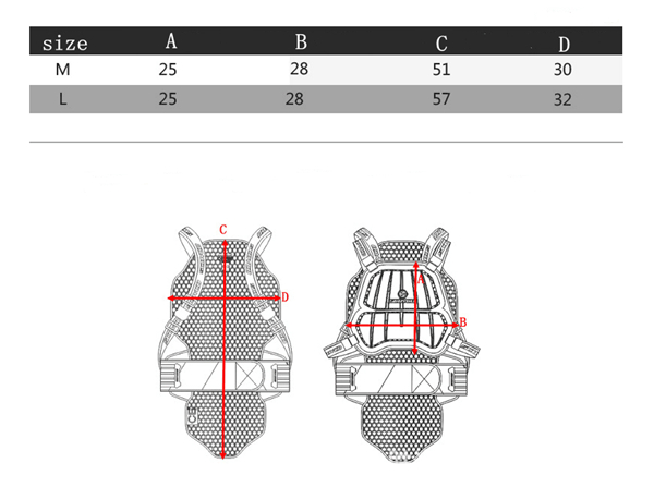 Motorcycle Riding Armor Protective Gear Breastplate For SCOYCO AM04