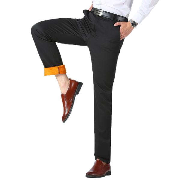 Thermal Velvet Straight Suit Брюки Толстые теплые брюки