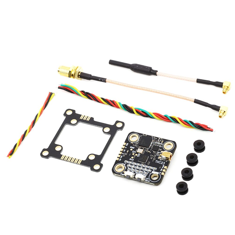 EACHINE TXC23 VTX 5.8Ghz 48CH 25/200/600/800mW FPV Mini Transmitter Pitmode ISM Band Simulation for Micro Drone RC Racing Aircraft