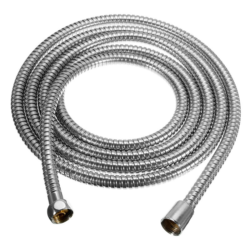 3M Stainless Steel Shower Hose Soft Shower Water Pipe Flexible Bathroom Water Pipe Silver Plumbing Hoses