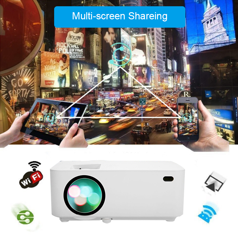 10000LM Multimedia 4K WiFi Android 3D LED Projector Home Cinema VGA HDMI TF USB