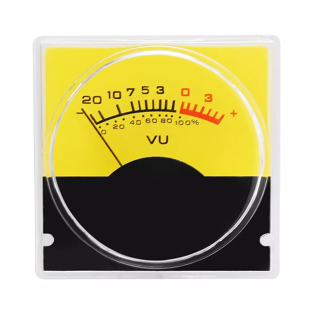 5Pcs Pointer Meter Amplifier VU Table DB Table Level Meter Pressure Gauge with White LED Backlight