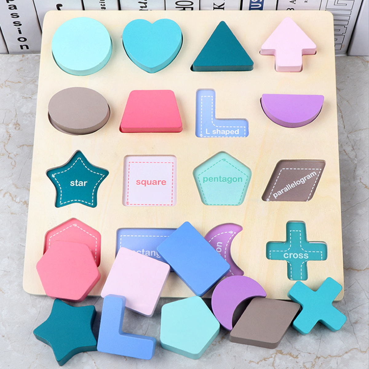 Alphanumeric Board Wooden Jigsaw Volume Wooden Baby Young Children Early Education Educational Toys