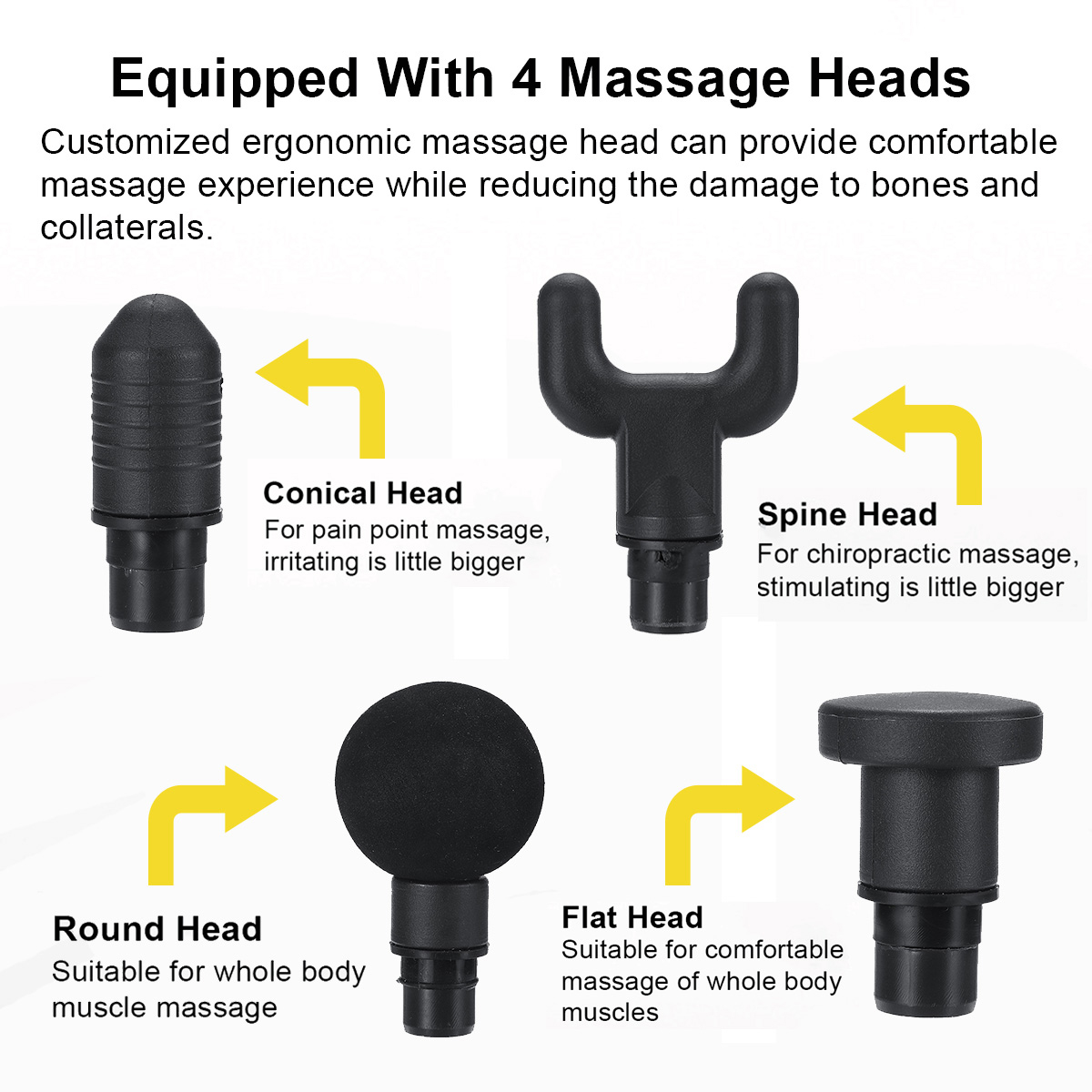 2500mAh Electric Massager Muscle Massage Therapy Vibration G un Deep Tissue Display Cordless Percussion Massager Percussion Massage Device 21