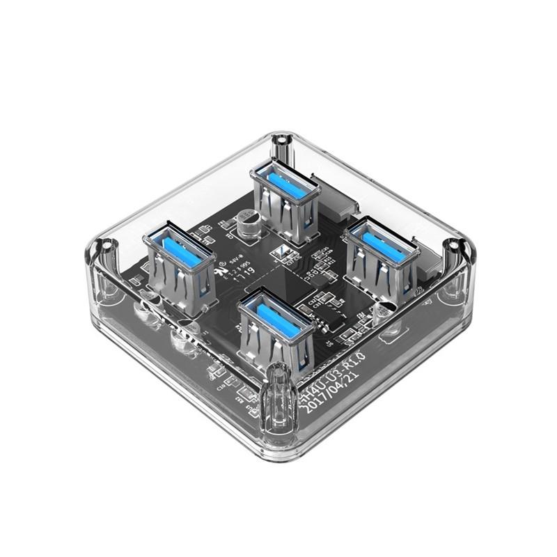 USB 3.0 5Gbps USB Hub 4 Ports High Speed USB Splitter with Power Charging Interface