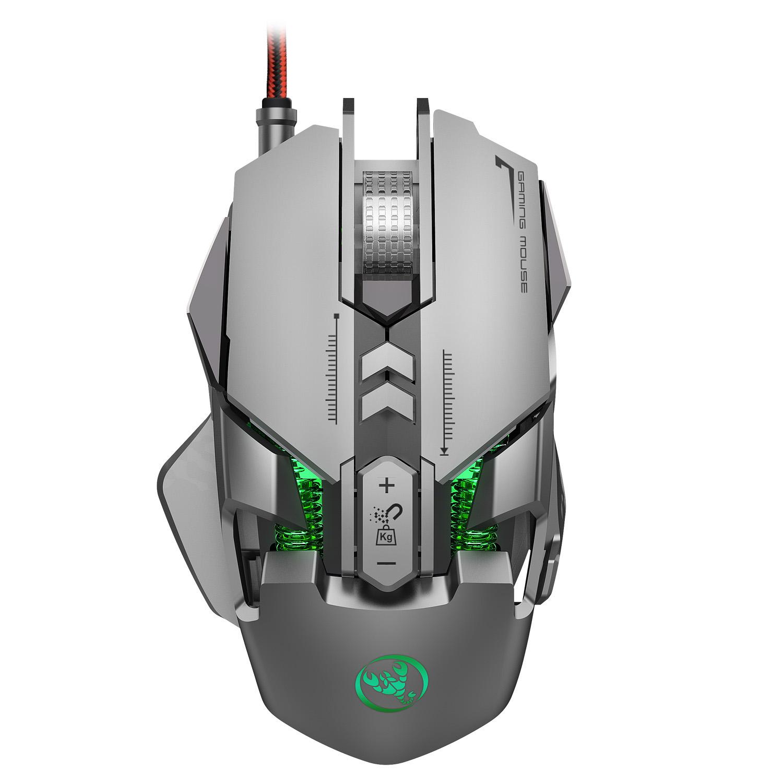 HSJ J800 6400 DPI Проводной LED RGB Подсветка Full-key 7 Механический Gaming Мышь для портативных ПК