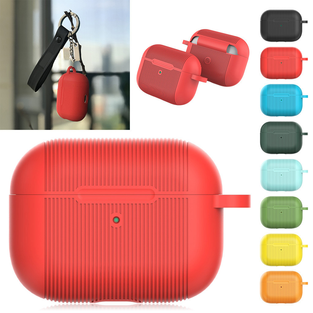 Bakeey Frosted Silicone Shockproof Dirtproof Anti-slip Earphone Storage Case for Apple Airpods Pro 2019