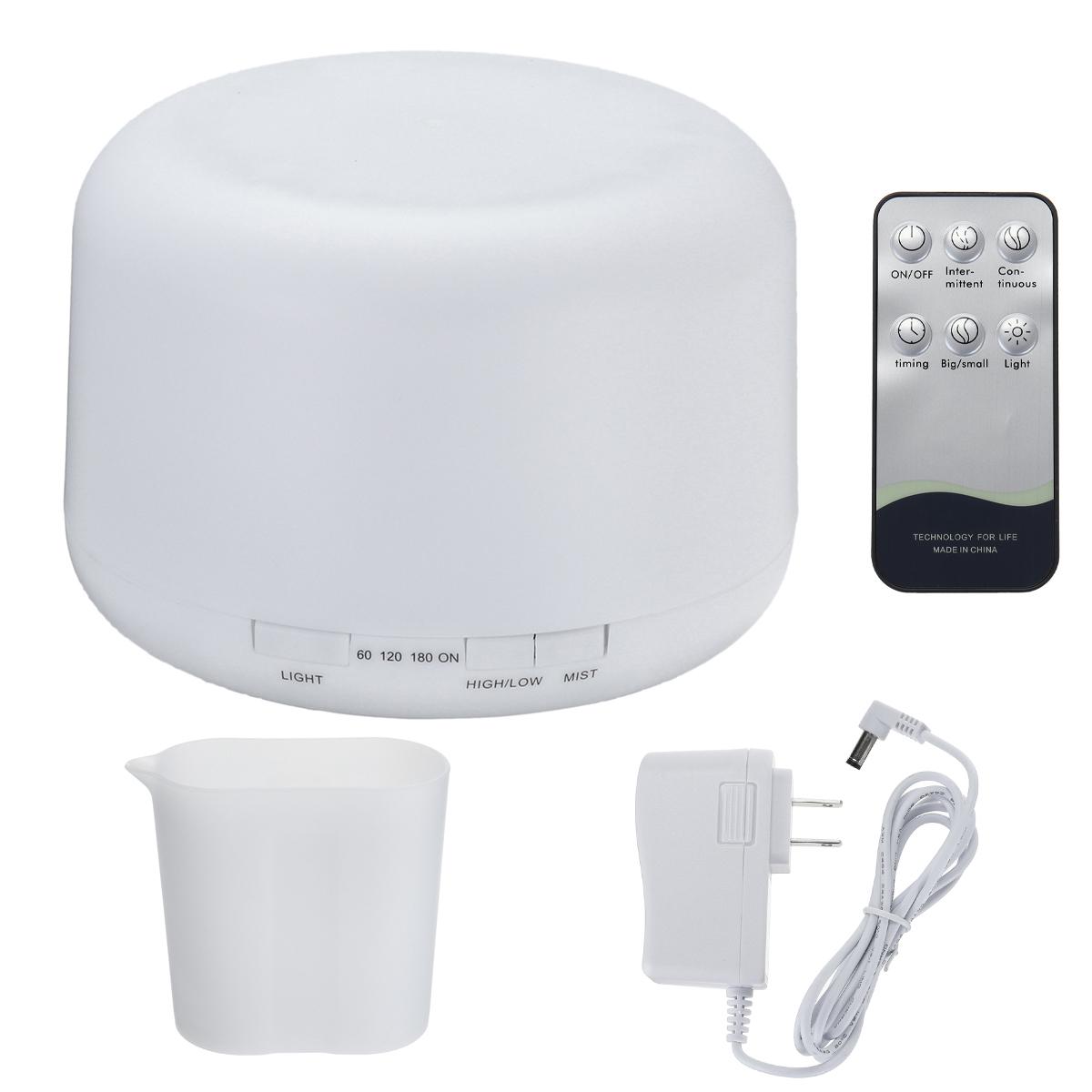 Ultrasonic Humidifier Essential Oil Diffuser Air Purifier+Remote Control 500ML