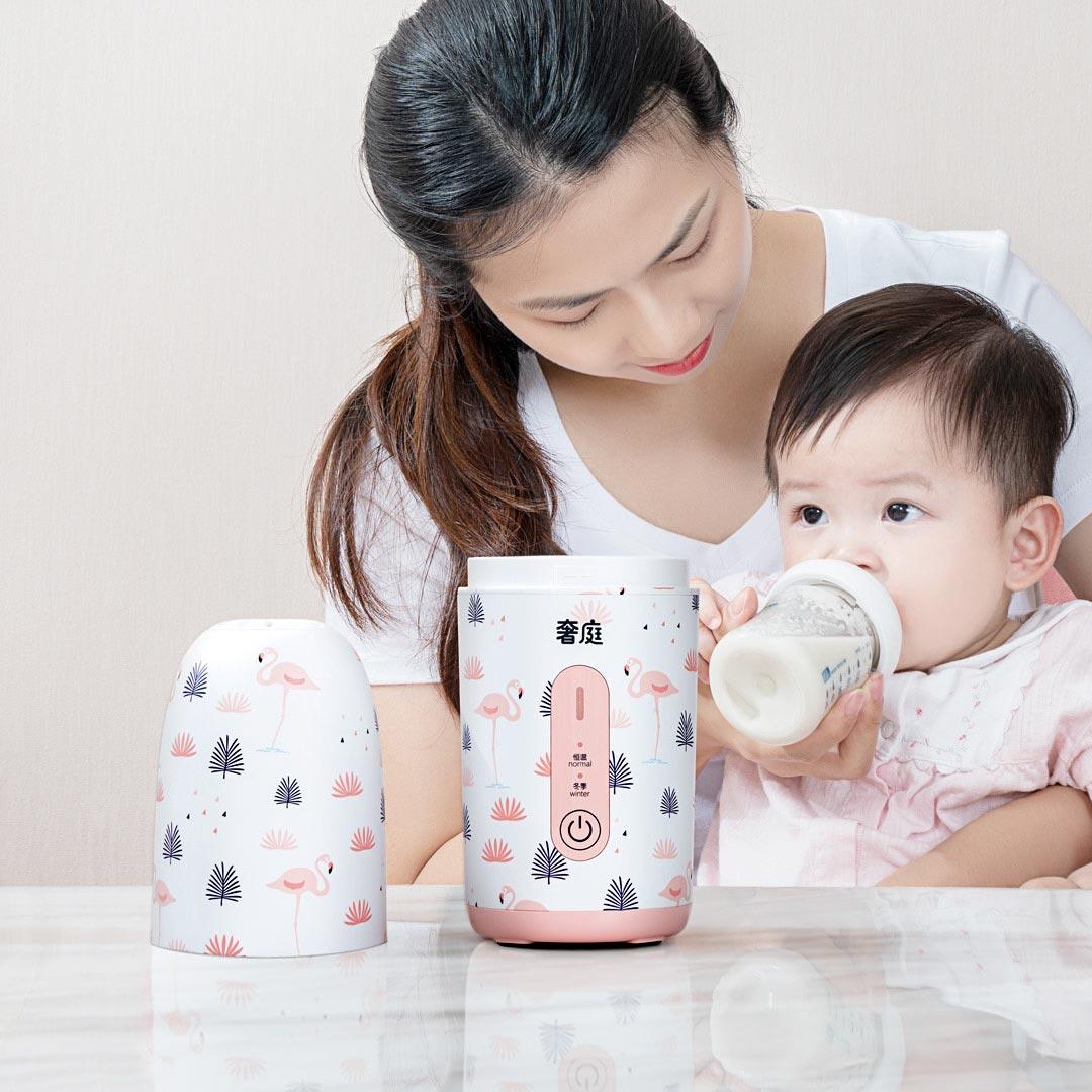 SHETING HS-X1 Baby Smart Bottle Термостат Портативный Сейф для использования постоянной температуры Детская бутылка Бутылка сухого молока от Xiaomi Youpin по цене 4 394