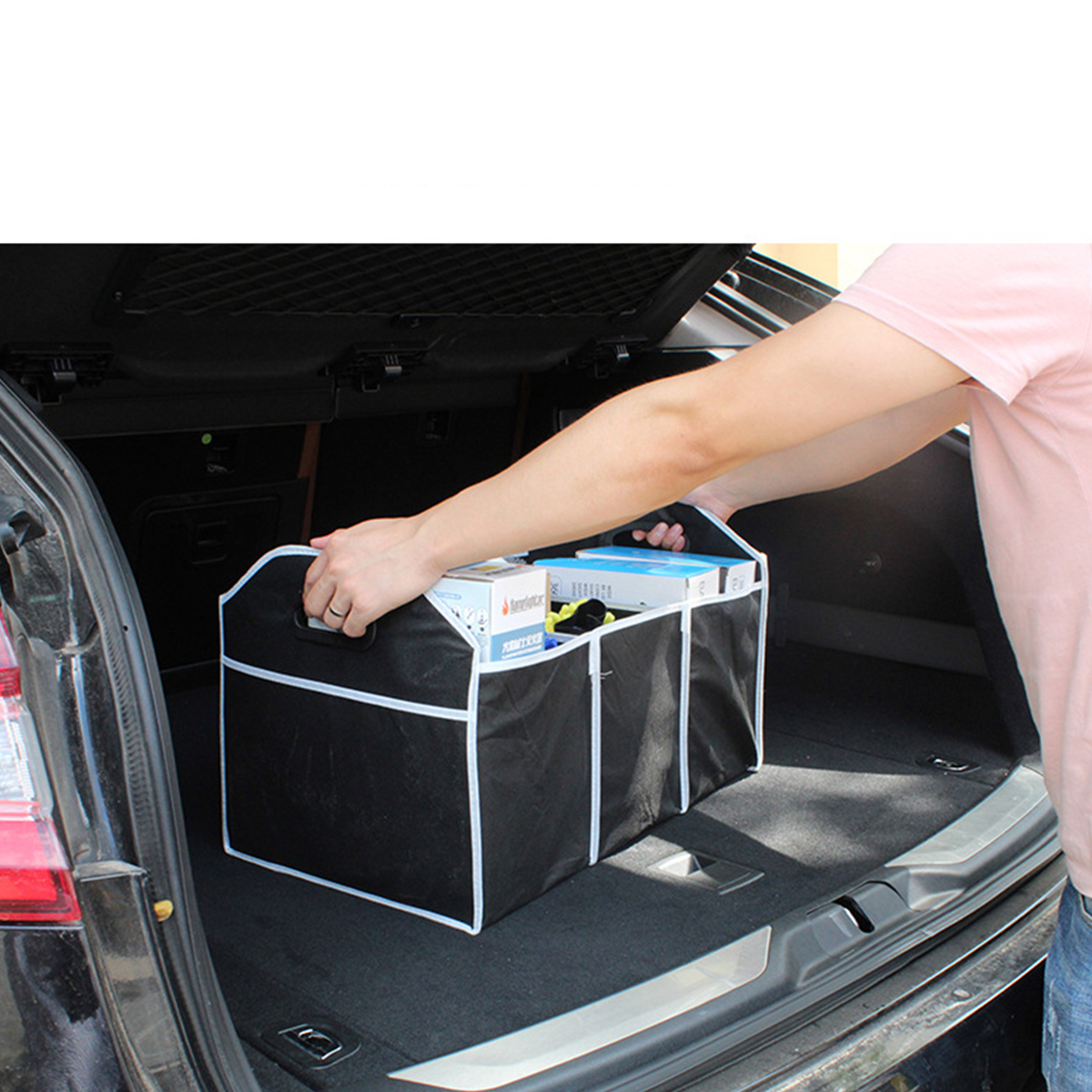 Trunk Storage Nets 2X Storage Holder Pocket Cotton fibers Cargo Car Trunk Bag