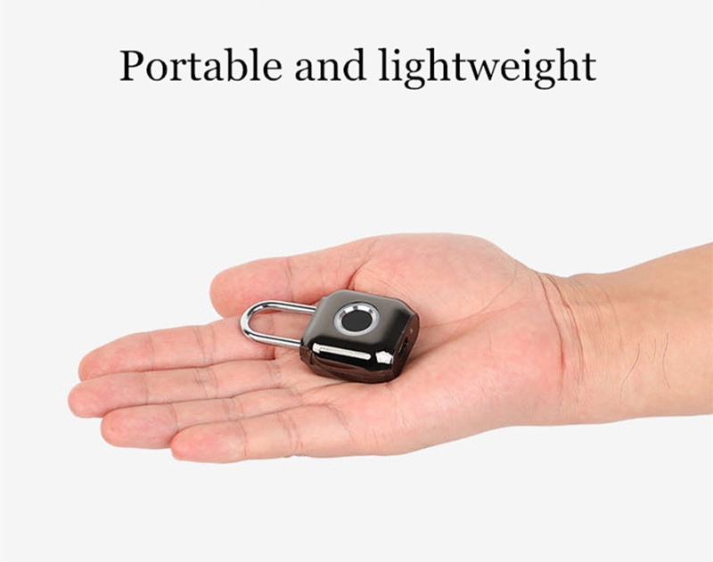 Smart Fingerprint Door Lock Padlock USB Charging Waterproof Keyless Anti Theft Travel Luggage Drawer Safety Lock 0.5 Second Unlock Reddot Design Award
