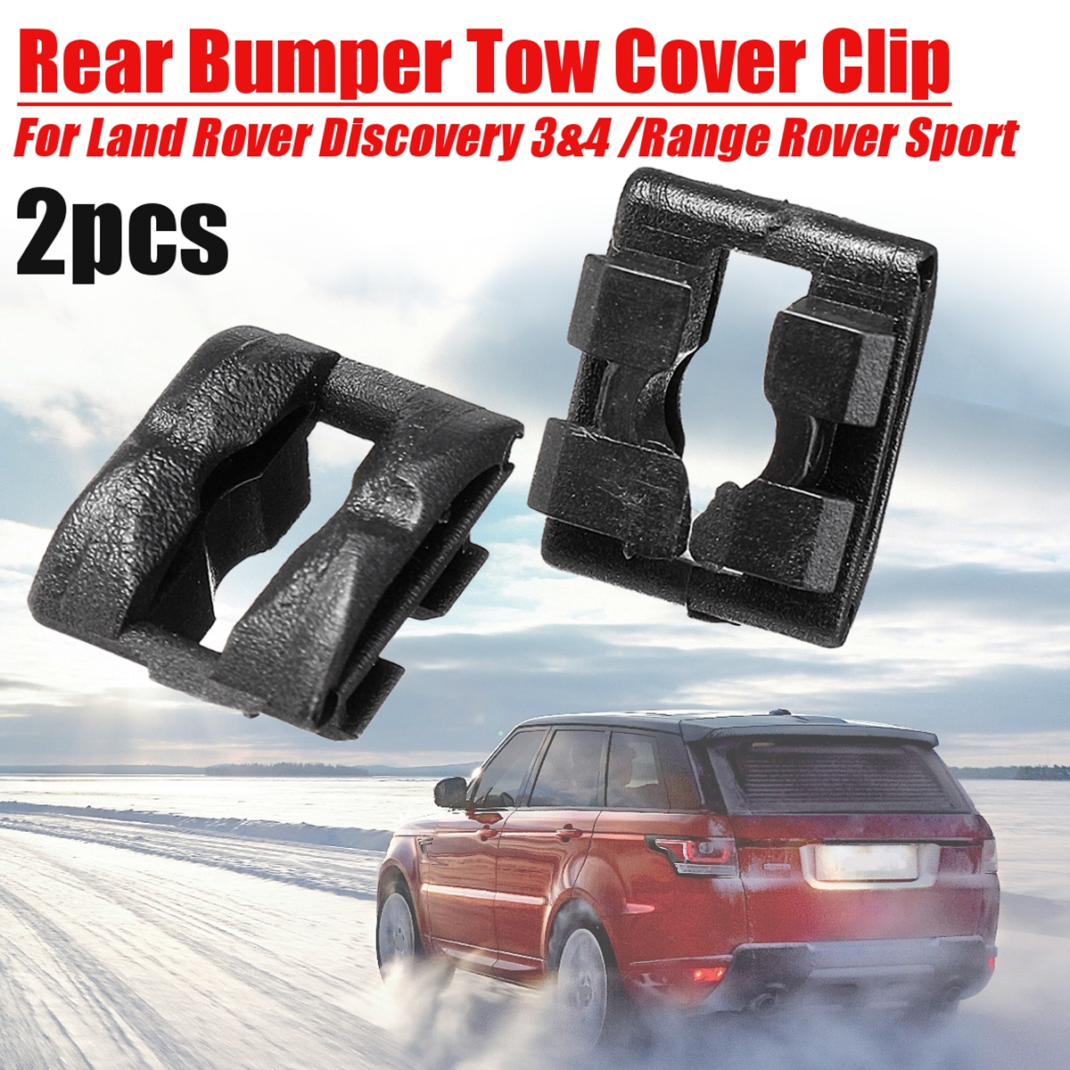 DPO500011PCL For Land Rover Discovery 3 /& 4 Rear Bumper Towing Cover Trim Clips