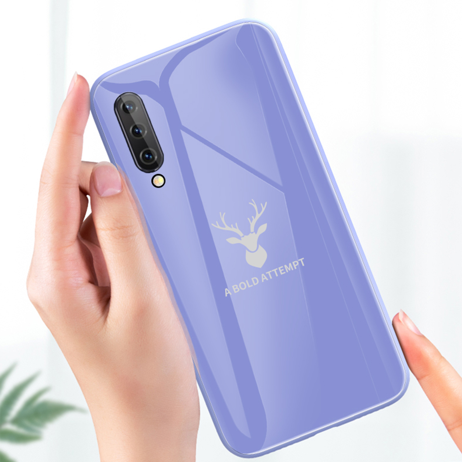 Bakeey Tempered Glass + Soft Liquid Silicone Back Cover Protective Case For Xiaomi Mi A3 / Xiaomi CC9e