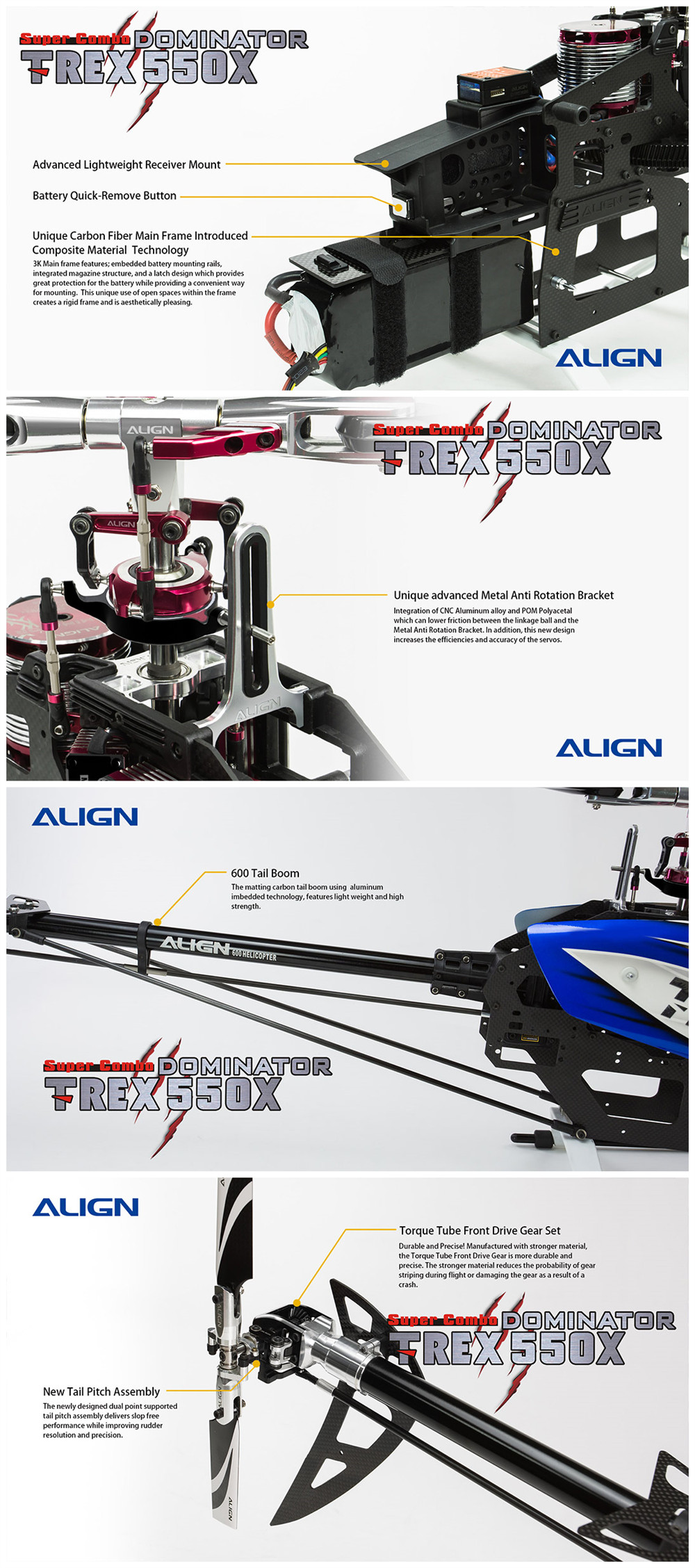 ALIGN T-REX 550X DOMINATOR RC Helicopter