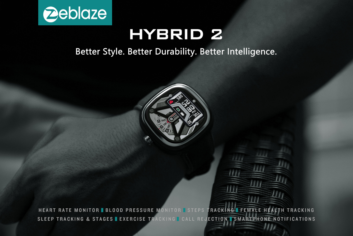 Zeblaze HYBRID 2 Absolute Toughness Heart Rate Blood Pressure Monitor Female Health Tracking All-day Activity Dual Modes Smart Watch 15