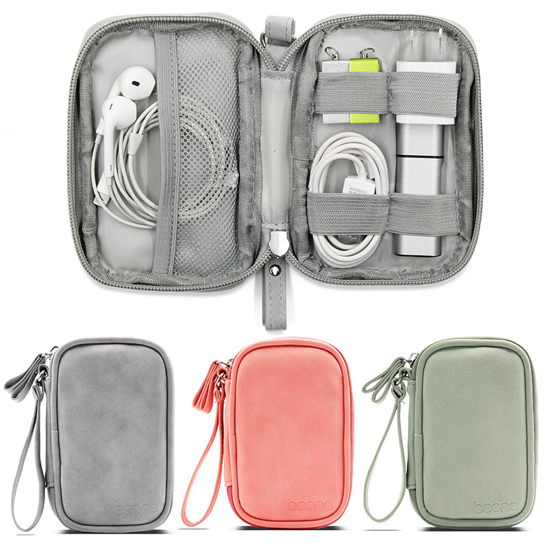 Boona 12cm*7.5cm Digital Accessories Storage Bag U Disk Memory Card USB Cable Earphone Organizer Travel Bag