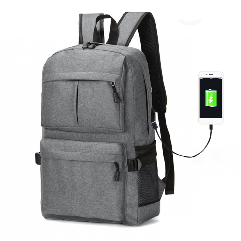 Men Women Large Capacity USB Backpack Outdoor Travel Bag