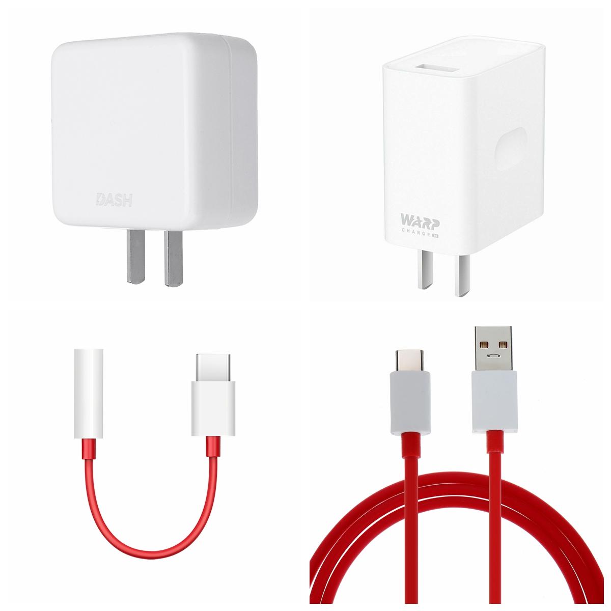 OnePlus 7 / 7t Pro Warp Зарядное устройство 30 Вт Зарядка адаптера питания Type-C Плоский кабель для передачи данных